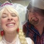 HIllbilly Wedding - LilyBeht & her Pa, Uncle Buck sayin' CHEEESE!